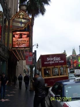 Hollywood - seberang Walk of fame di pagi hari