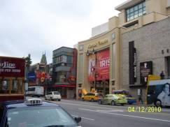 Hollywood – dari seberang Walk of fame di pagi hari