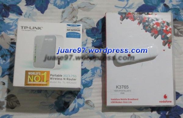 TP-Link TL-MR3020 dengan 3G Modem Huawei K3765