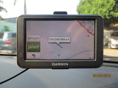 CitraGran Blok AA & BB - GPS Garmin Nuvi40LM dengan peta Navigasi.net