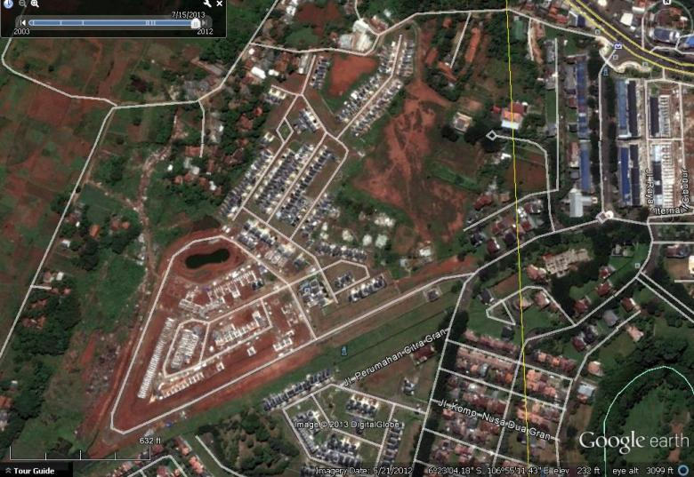 Blok AA dan Blok BB Citra Gran - Google Earth