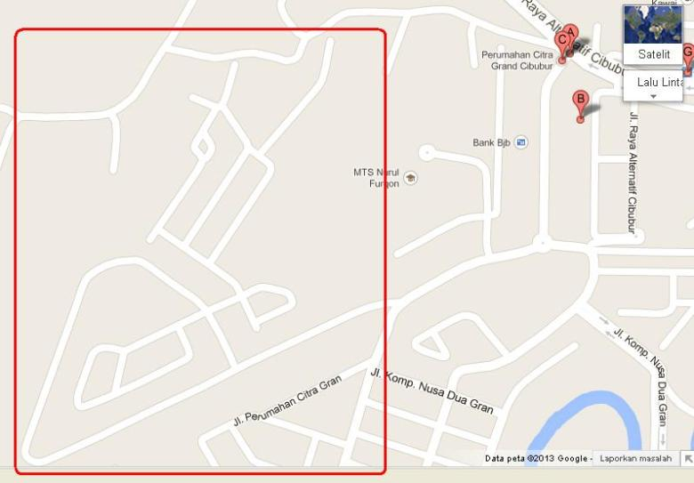 Blok AA dan Blok BB Citra Gran - Google Maps