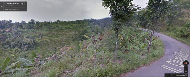 Salah satu Pemandangan pulang dari Leuwi Hejo (diambil dari Google Street View)