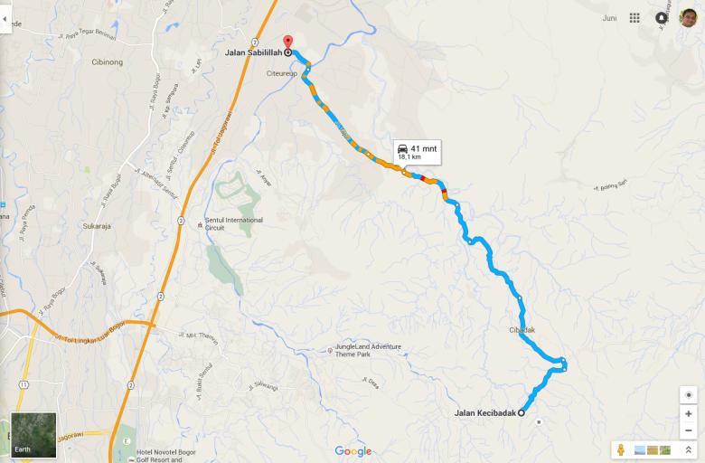 Peta pulang dari Leuwi Hejo