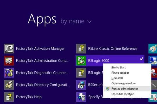 RSlogix5K v20 icon, Run as administrator