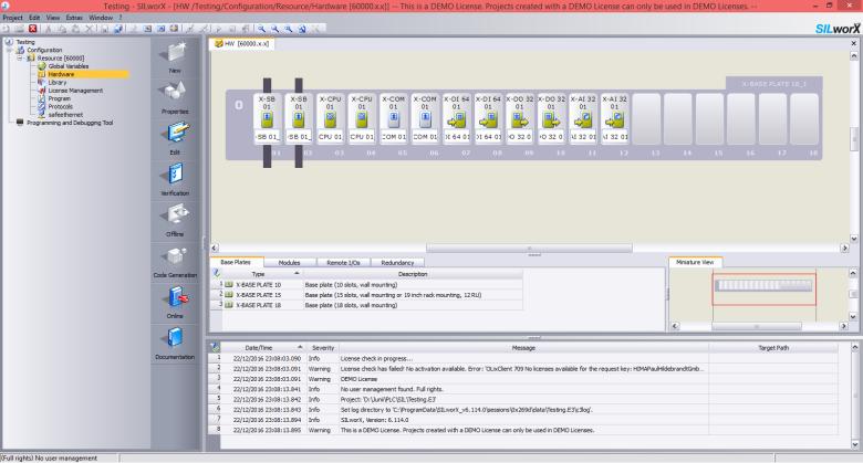 SILworX-configuration hardware